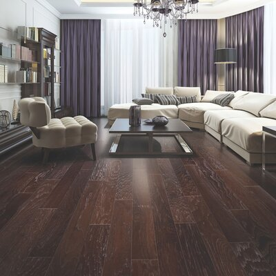 American Villa 5 Engineered Hickory Hardwood Flooring in Canyon Brown