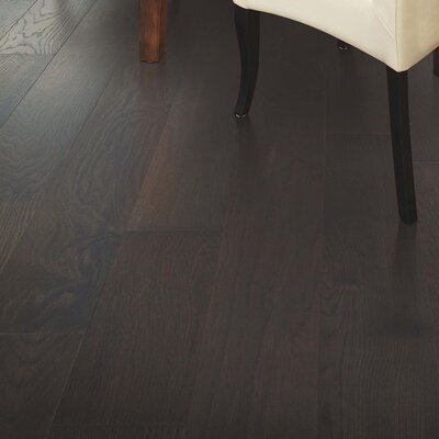 Alessandra Random Width Engineered Oak Hardwood Flooring in Gunmetal