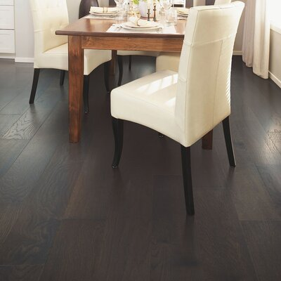 North Coast Random Width Engineered Oak Hardwood Flooring in Gunmetal