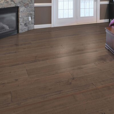 Kearny Random Width Engineered Maple Hardwood Flooring in Granite