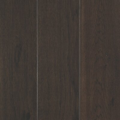 Danforth Random Width Engineered Hickory Hardwood Flooring in Brun