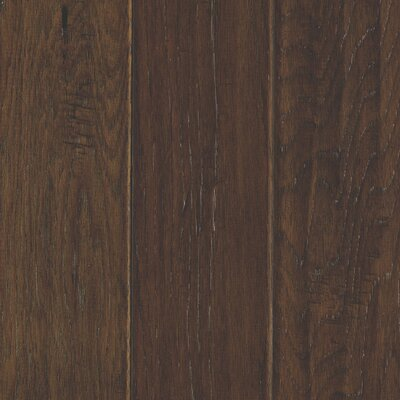 Windworn 5 Engineered Hickory Hardwood Flooring in Coffee