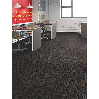 Krakow 24 x 24 Carpet Tile in Mudslide