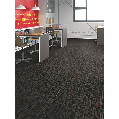 Krakow 24 x 24 Carpet Tile in Black Velvet