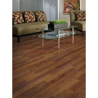 Genova 6 x 54 x 8mm Oak Laminate Flooring in Saddle Oak Plank