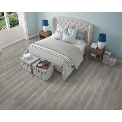 7.5 x 47.25 x 0.3mm Oak Laminate Flooring in Soft Graphite