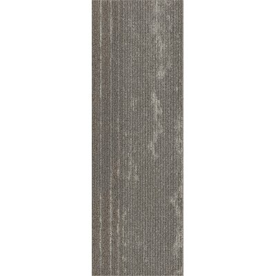 Webster 12 x 36 Carpet Tile in Perfect Paths Metallic