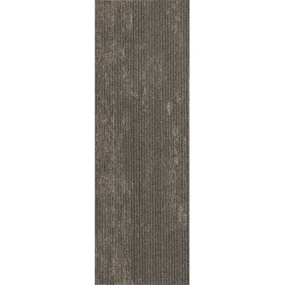 Webster 12 x 36 Carpet Tile in Downing Stone Metallic