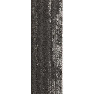 Webster 12 x 36 Carpet Tile in Wild Terrain Metallic