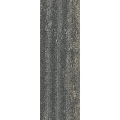 Webster 12 x 36 Carpet Tile in Solid Ground Metallic