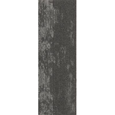 Webster 12 x 36 Carpet Tile in Clean Slate Metallic