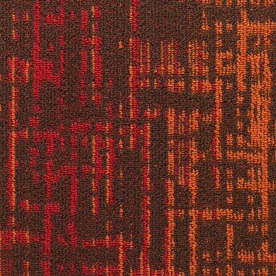 Haverill 24 x 24 Carpet Tile in Cayenne