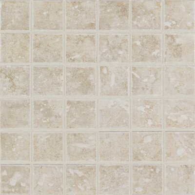Steppington 2 x 2 Ceramic Mosaic Tile in Provincial Pearl