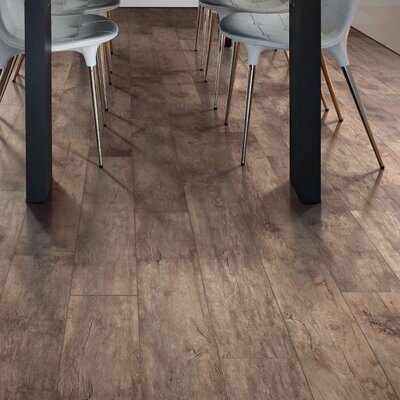 Cashe Hills 7.5 x 47.25 x 7.87mm Oak Laminate Flooring in Brown