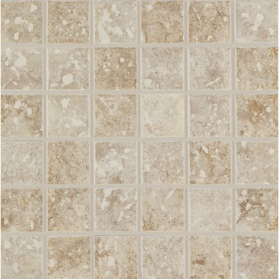 Steppington 2 x 2 Ceramic Mosaic Tile in Baronial Beige and Traditional Taupe Blend (Set of 2)