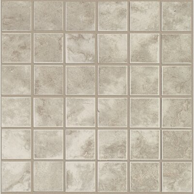 Pavin Stone 2 x 2 Ceramic Mosaic Tile in Gray Flannel