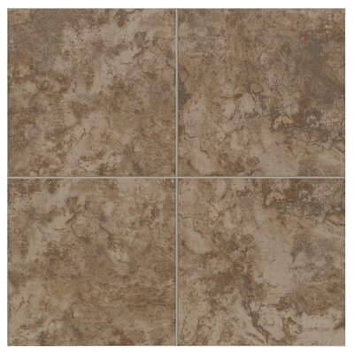 Pavin Stone 6 x 6 Ceramic Field Tile in Brown Suede