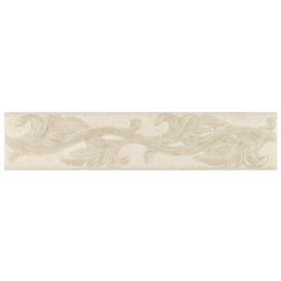 Natural Pavin Stone 14 x 3 Decorative Accent Strip in White Linen