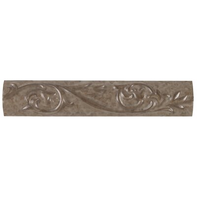 Natural Pavin Stone 10 x 2 Decorative Accent Strip in Brown Suede