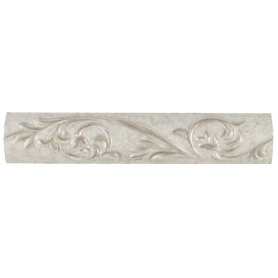 Natural Pavin Stone 10 x 2 Decorative Accent Strip in Gray Flannel