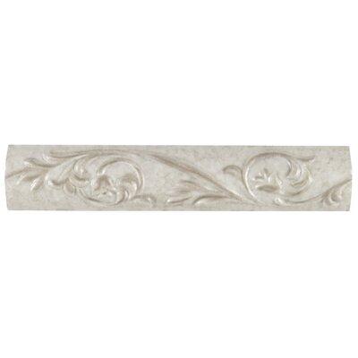 Natural Pavin Stone 10 x 2 Decorative Accent Strip in Gray Flannel