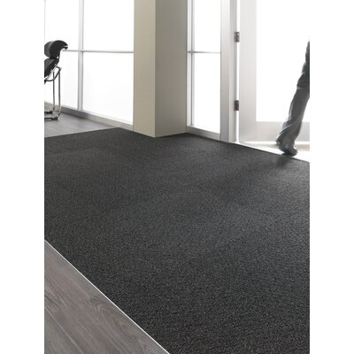 Barre 24 x 24 Carpet Tile in Obsidian