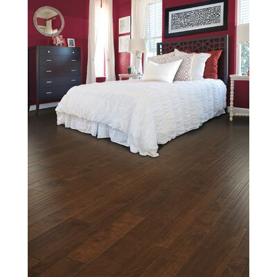 Allegra Random Width Engineered Birch Hardwood Flooring in Java Birch