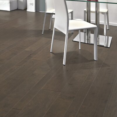 Allegra Random Width Engineered Birch Hardwood Flooring in Iron Birch
