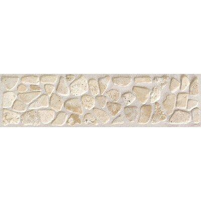 Artistic Accent Statements 12 x 3 Pebble Decorative Border in Baja Cream