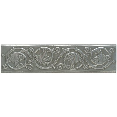 Artistic Accent Statements Metal 12 x 3 Scrolling Leaf Decorative Border in Vintage Pewter