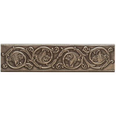 Artistic Accent Statements Metal 12 x 3 Scrolling Leaf Decorative Border in Vintage Bronze