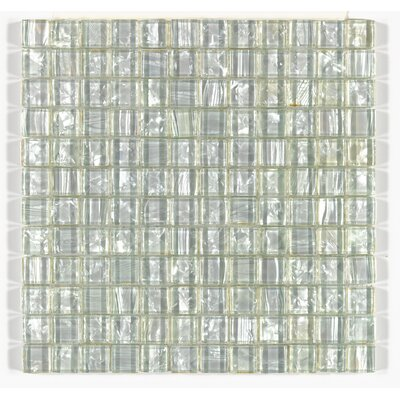 Accent Statements 12 x 12 Glass Mosaic Tile in Pearl Shimmer