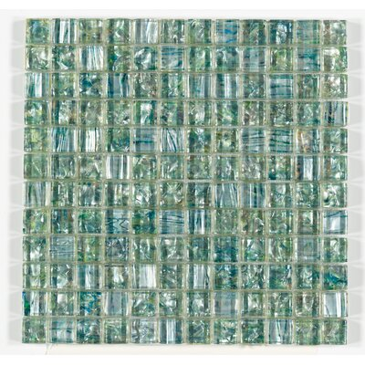 Accent Statements 12 x 12 Glass Mosaic Tile in Emerald Mist