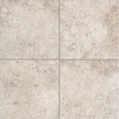 Pensdale Floor Glazed 18 x 18 Porcelain Field Tile in White Shell