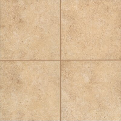 Pensdale Floor Glazed 12 x 12 Porcelain Field Tile in Gold Shell