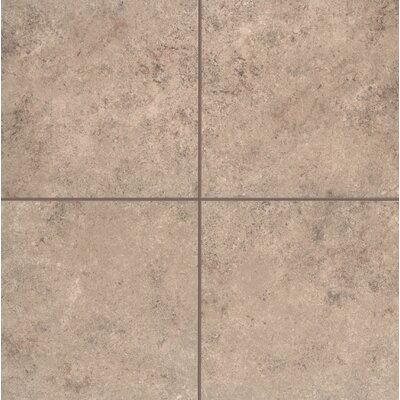 Pensdale Floor Glazed 12 x 12 Porcelain Field Tile in Brown Shell