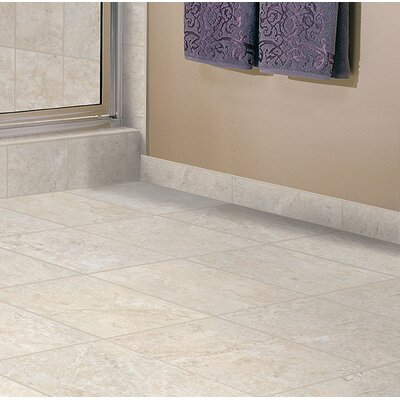 Medfordton Floor Glazed 13 x 13 Porcelain Field Tile in White Cliff