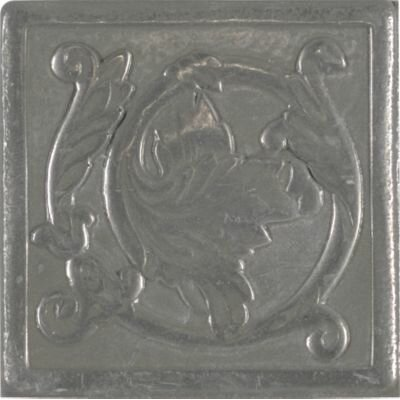 Artistic Accent Statements Metal 2 x 2 Scrolling Leaf Decorative Corner/Insert in Vintage Pewter