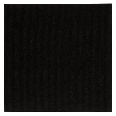 "Mohawk Ribbed 18"" x 18"" Carpet Tile in Black at Sears.com"