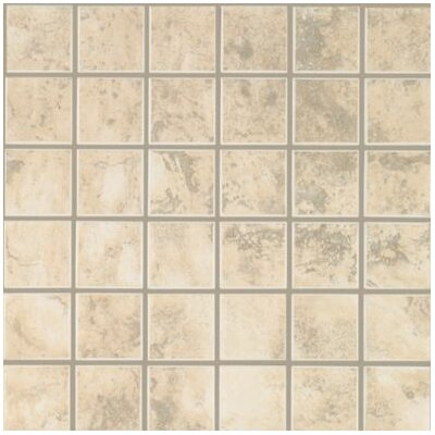 Pavin Stone 2 x 2 Ceramic Mosaic Tile in White Linen