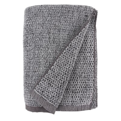 Diamond Jacquard Bath Sheet Color: Gray