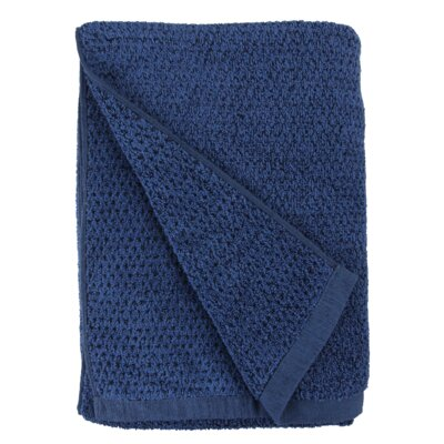 Diamond Jacquard Bath Sheet Color: Blue