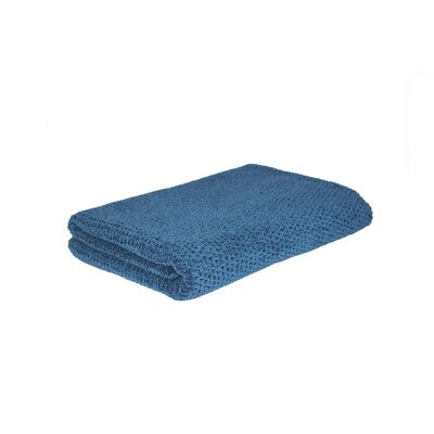 Diamond Jacquard Bath Towel Color: Blue