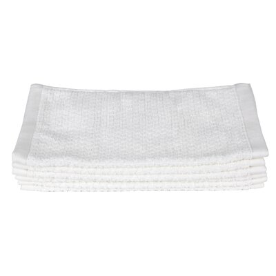 Diamond Jacquard Wash Cloth Color: White