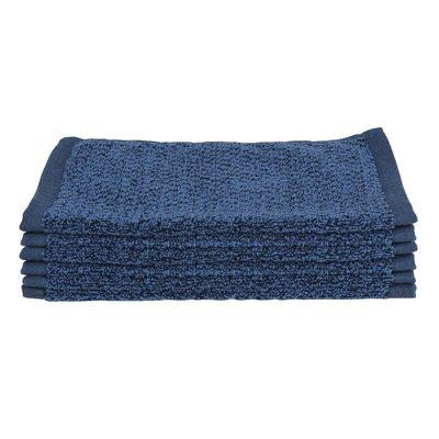Diamond Jacquard Wash Cloth Color: Navy