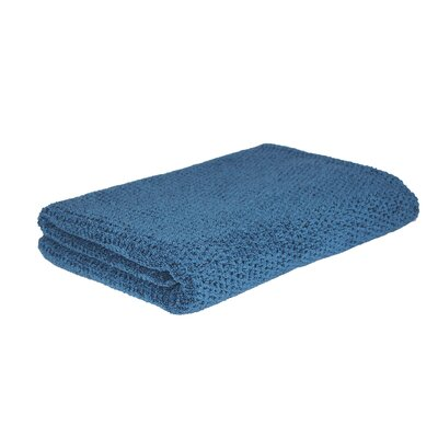 Diamond Jacquard Bath Towel Color: Navy