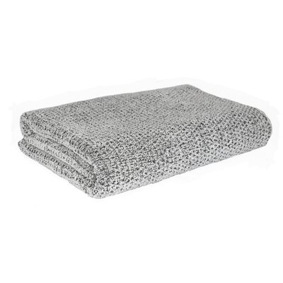 Diamond Jacquard Bath Towel Color: Gray
