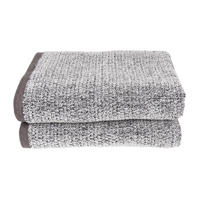 Diamond Jacquard Bath Towel Set Color: Gray