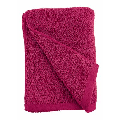Diamond Jacquard Bath Towel Color: Light Magenta