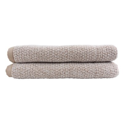 Diamond Jacquard Bath Towel Set Color: Caramel